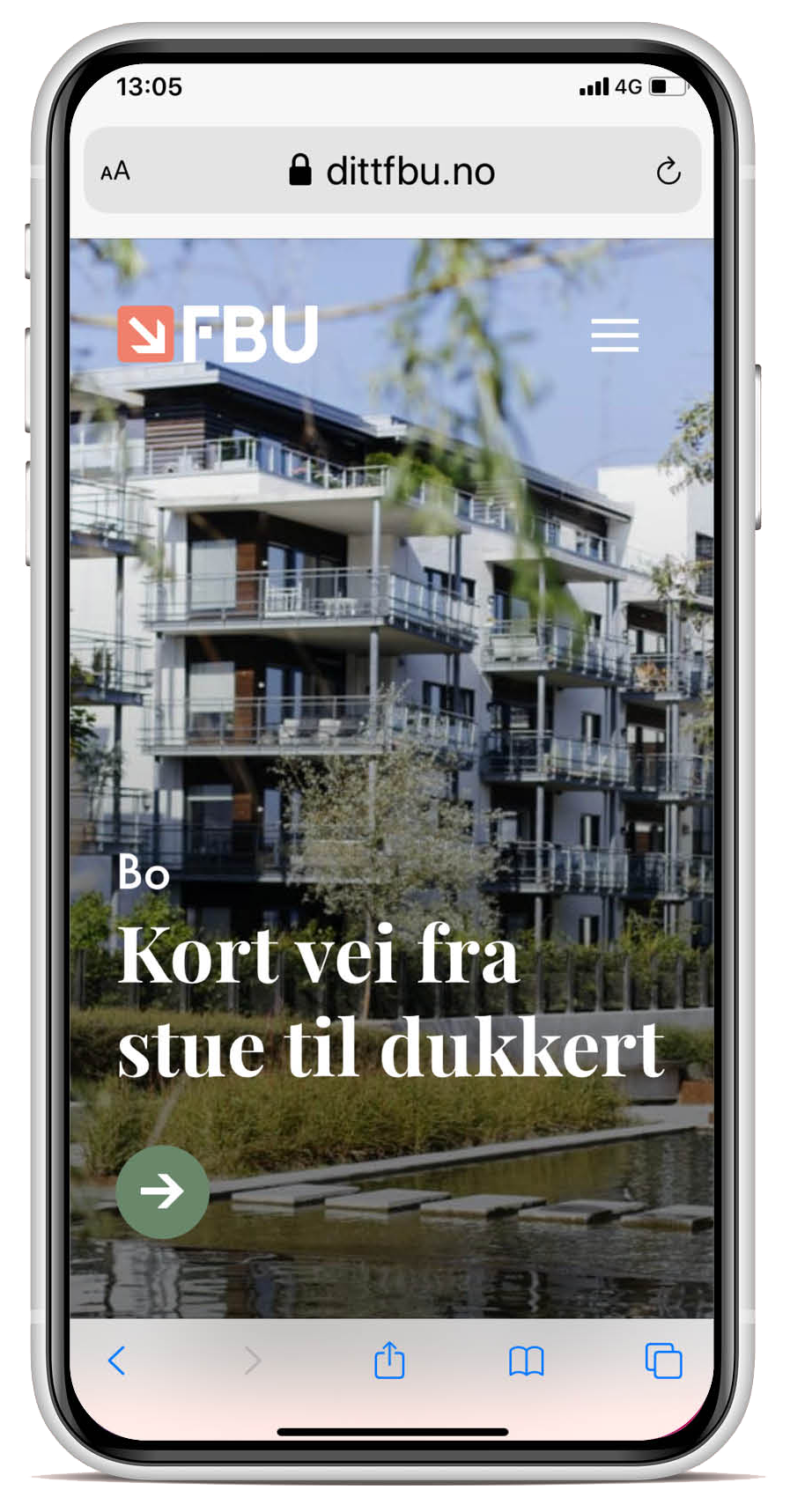 Ditt FBU mobil mockup